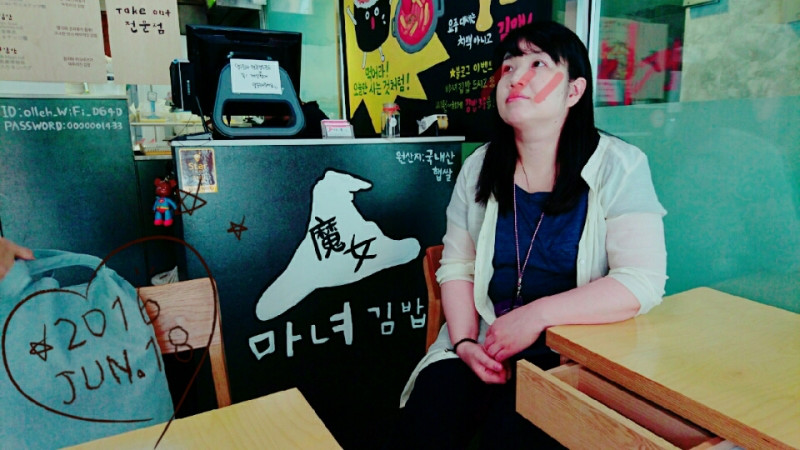 【ヲタ活】清潭洞☆JYPエンターテイメント近くのキンパ屋さん〈魔女キムパッ〉