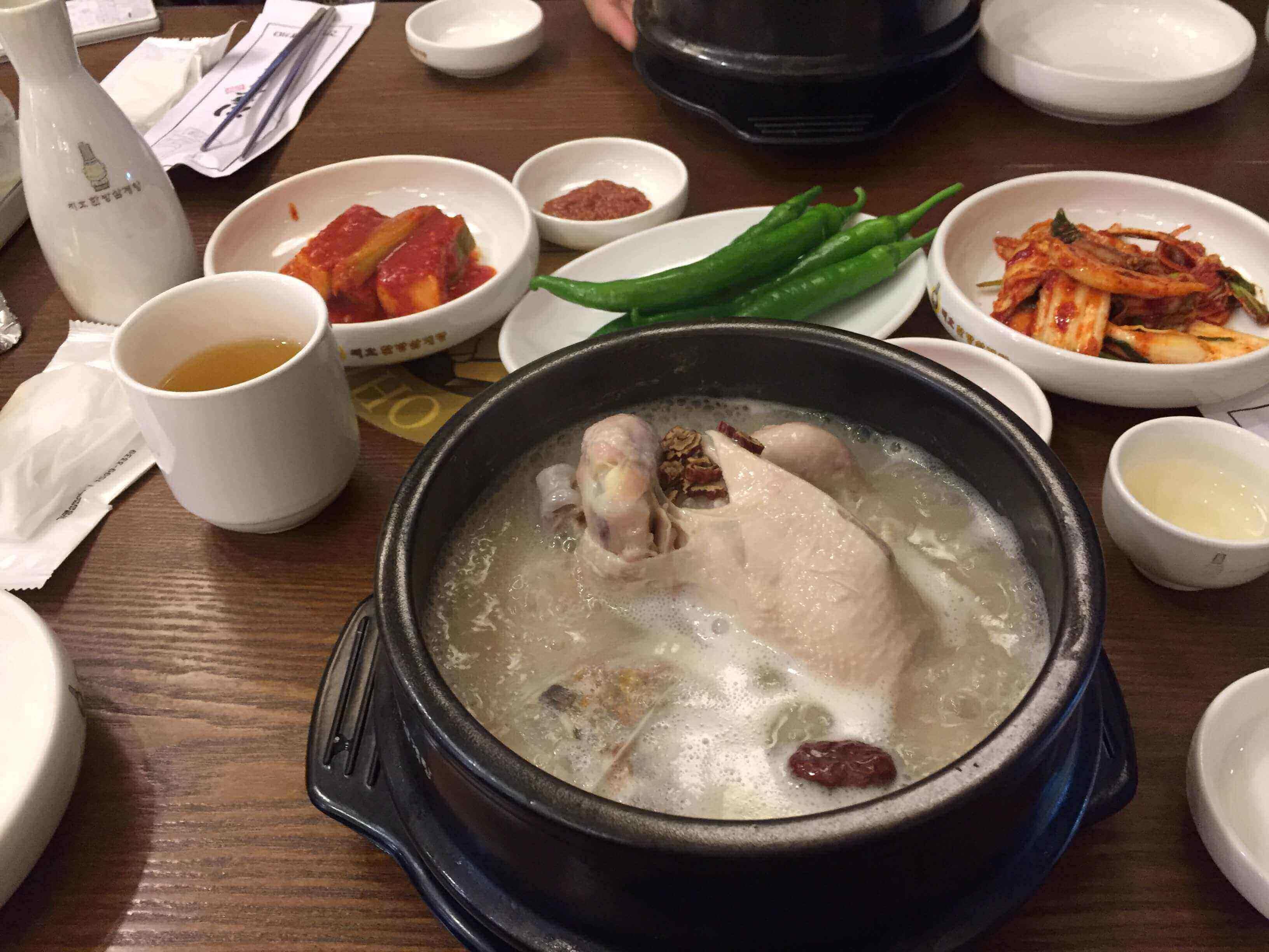 【韓国グルメ】江南・新沙で韓方参鶏湯で、風邪予防してきた!