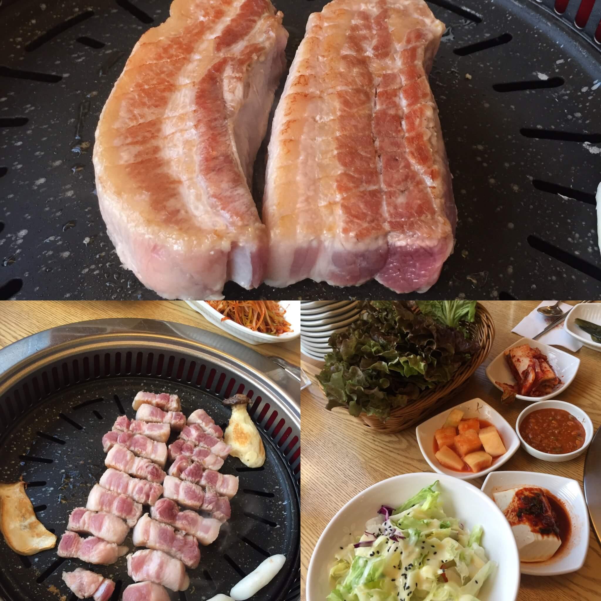 【韓国・明洞】黄金牧場でサムギョプサルを食べてきたよ^^動画付き♪