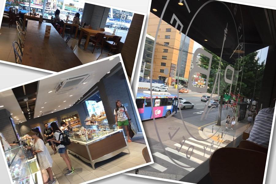 新沙駅近くの【PARIS BAGUETTE(パリバケット)】でプチセレブ体験♪2階建てのおしゃれなパン屋さんカフェでした^^