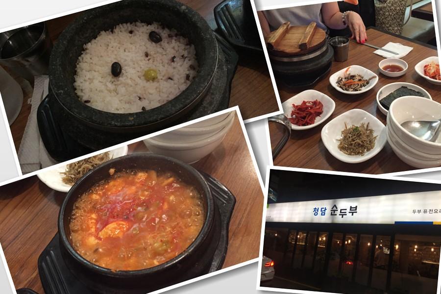 2週間前に、東方神起ユノも来店したって!!清譚洞スンドゥブ本店は、韓国芸能人御用達の24時間営業の食堂です!
