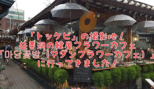 【韓国おしゃれカフェ】韓国ドラマ「トッケビ」の撮影地!益善洞の韓屋フラワーカフェ「마당꽃방(マダンフラワーカフェ)」に行ってきました!