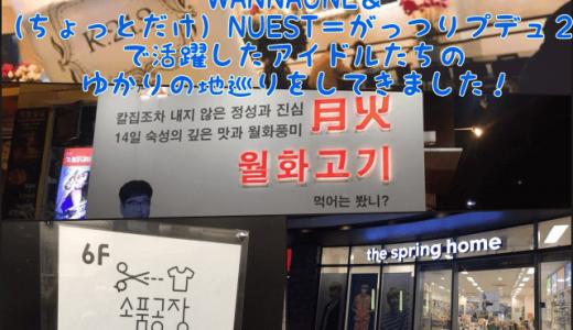【K-POPヲタ活】WANNAONE&(ちょっとだけ)NUEST=がっつりプデュ2で活躍したアイドルたちのゆかりの地巡りをしてきました!