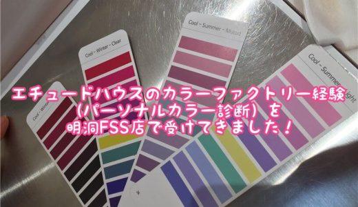 【韓国コスメ】エチュードハウスのカラーファクトリー経験(パーソナルカラー診断)を明洞FSS店で受けてきました!日本語通じる?カロスキル店との違いは?あなたの疑問にお答えします。